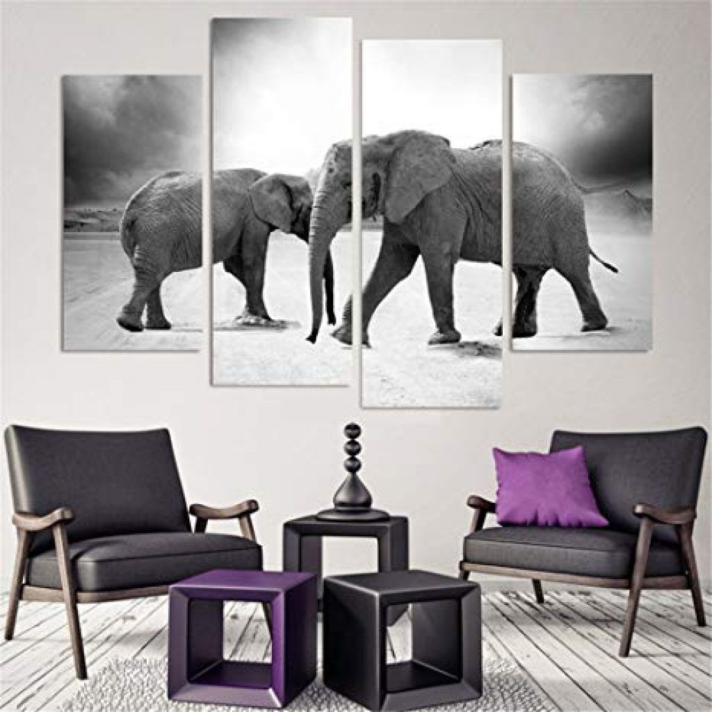 Elephant Decor Living Room - Jungle home decor bedroom art deco