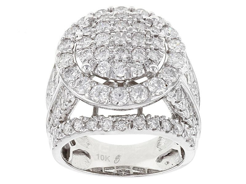 White Diamond 10k White Gold Ring 4 00ctw 14k White Gold Ring White Gold Rings White Gold