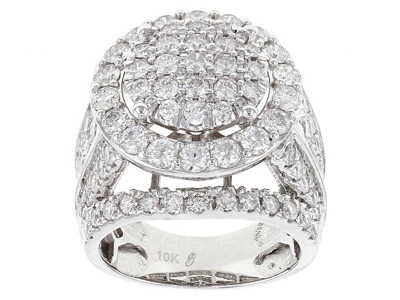 White Diamond 10k White Gold Ring 4 00ctw 14k White Gold Ring White Gold Rings White Gold