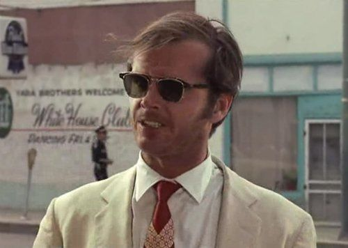 1b64b2453aac38 George Hanson aka Jack Nicholson Wearing Clip On Sunglasses In The 1969  movie Easy Rider.