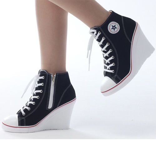 23575aac24ae6e Wedges Trainers Heels Sneakers Platform High Top Ankles Lace Ups Zip Boots