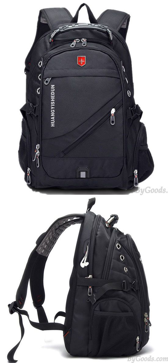 f154699723f2 Strong Outdoor Nylon Oxford Bag Waterproof Black Large Multi-functional  Camping Travel Backpack for big sale!  strong  camping  large  backpack  Bag   travel ...