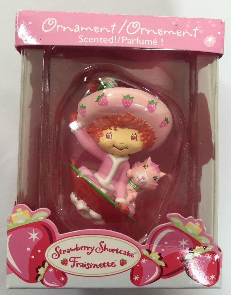 Strawberry shortcake christmas ornament fraisinette scented american cartoon tv character christmas ornaments 1991 now ebay american greetingsstrawberry m4hsunfo