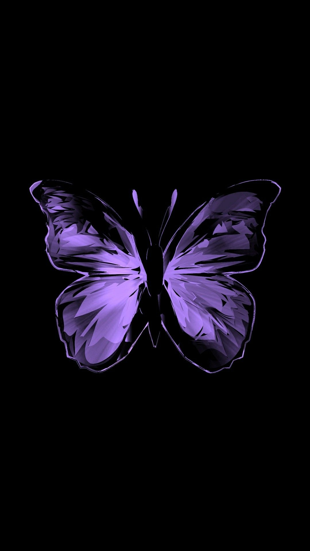 Purple Butterfly Butterfly Wallpaper Backgrounds Dark Purple