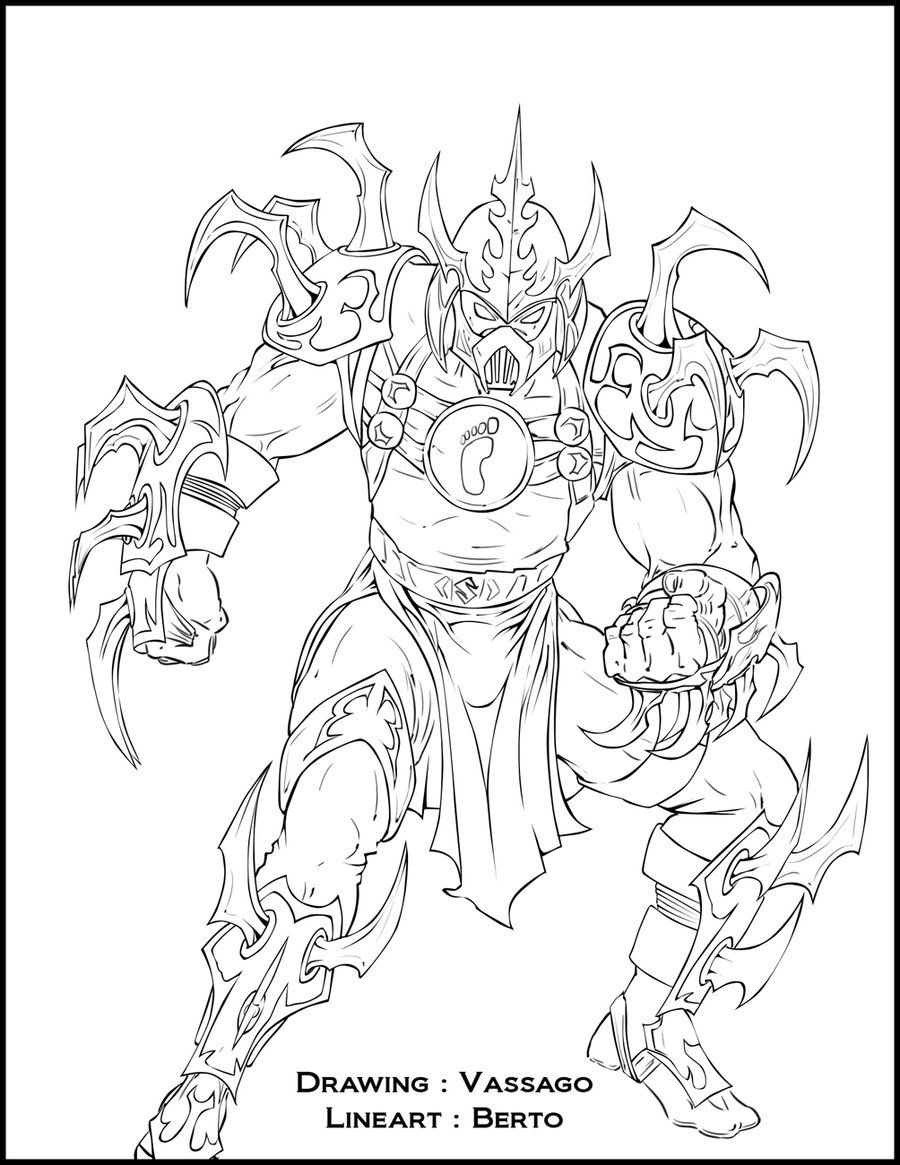 Super shredder - Lineart by diabolumberto  Animal coloring pages