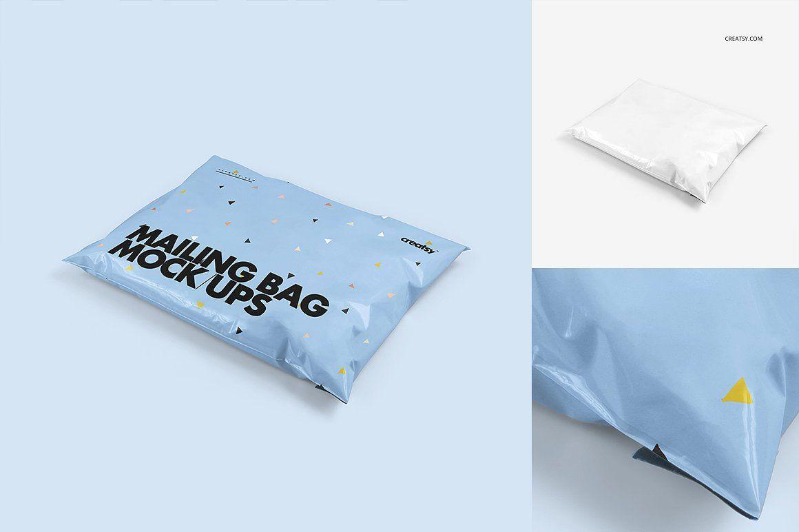 Download Mailing Bag Mockup Set