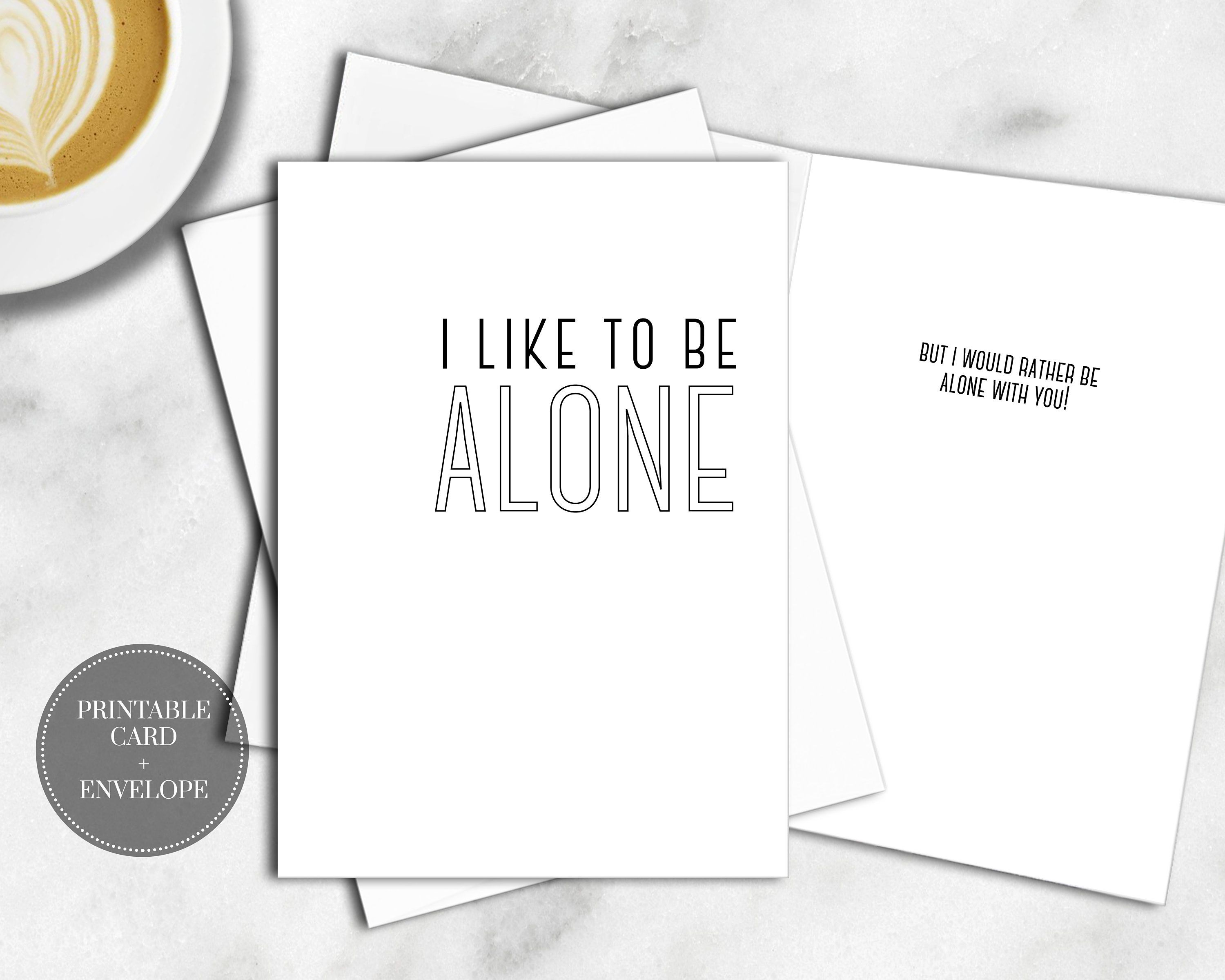 picture relating to Anniversary Cards for Her Printable Free known as PRINTABLE Humorous Valentine Card for Introvert Fast