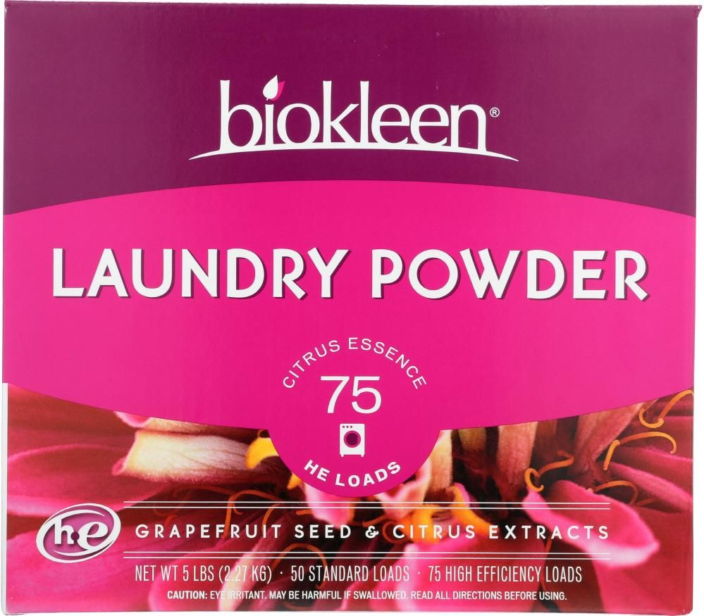 Bio Kleen Laundry Powder Grapefruit Seed And Citrus Extract 5 Lb