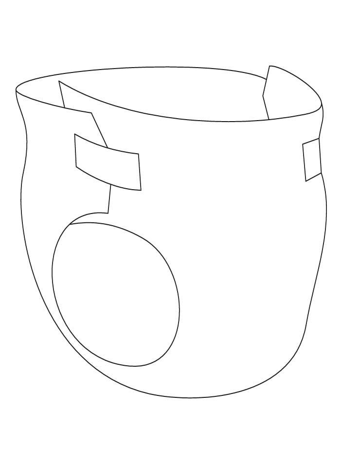 Pictures Of Diaper Coloring Page Kidskunst Info