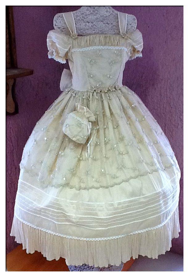 vestidos de primera comunion con olanes
