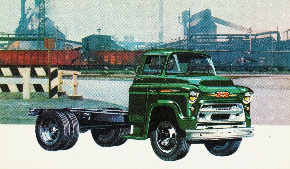 1957 chevrolet truck   1957 chevrolet low cab forward truck
