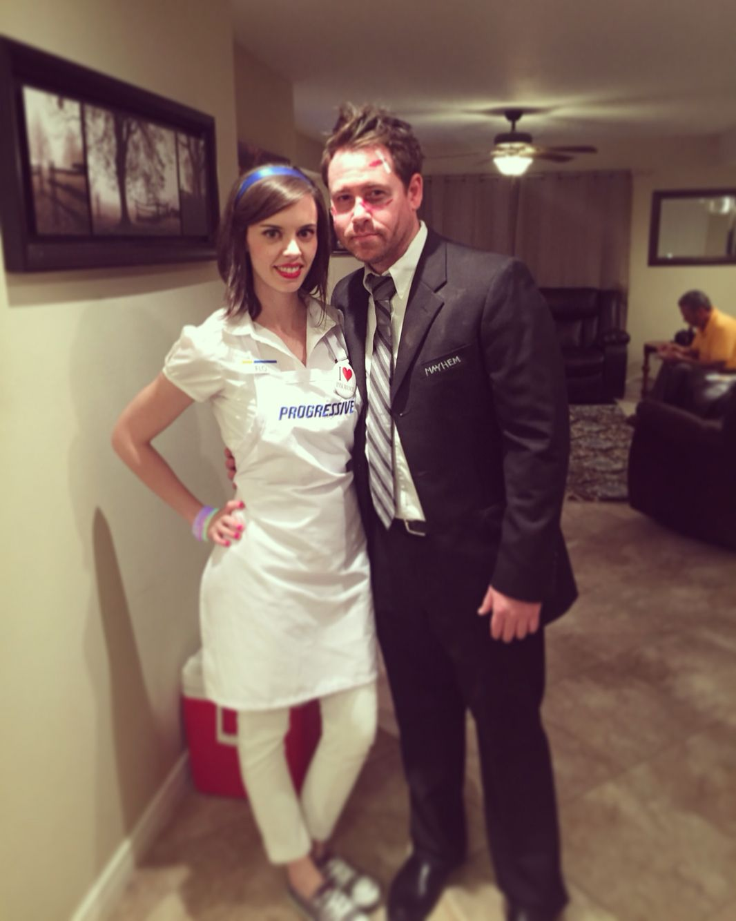 Halloween Costumes Flo from progressive and Mayhem from Allstate insurance costumes ! So fun!  sc 1 st  Pinterest & Halloween Costumes Flo from progressive and Mayhem from Allstate ...