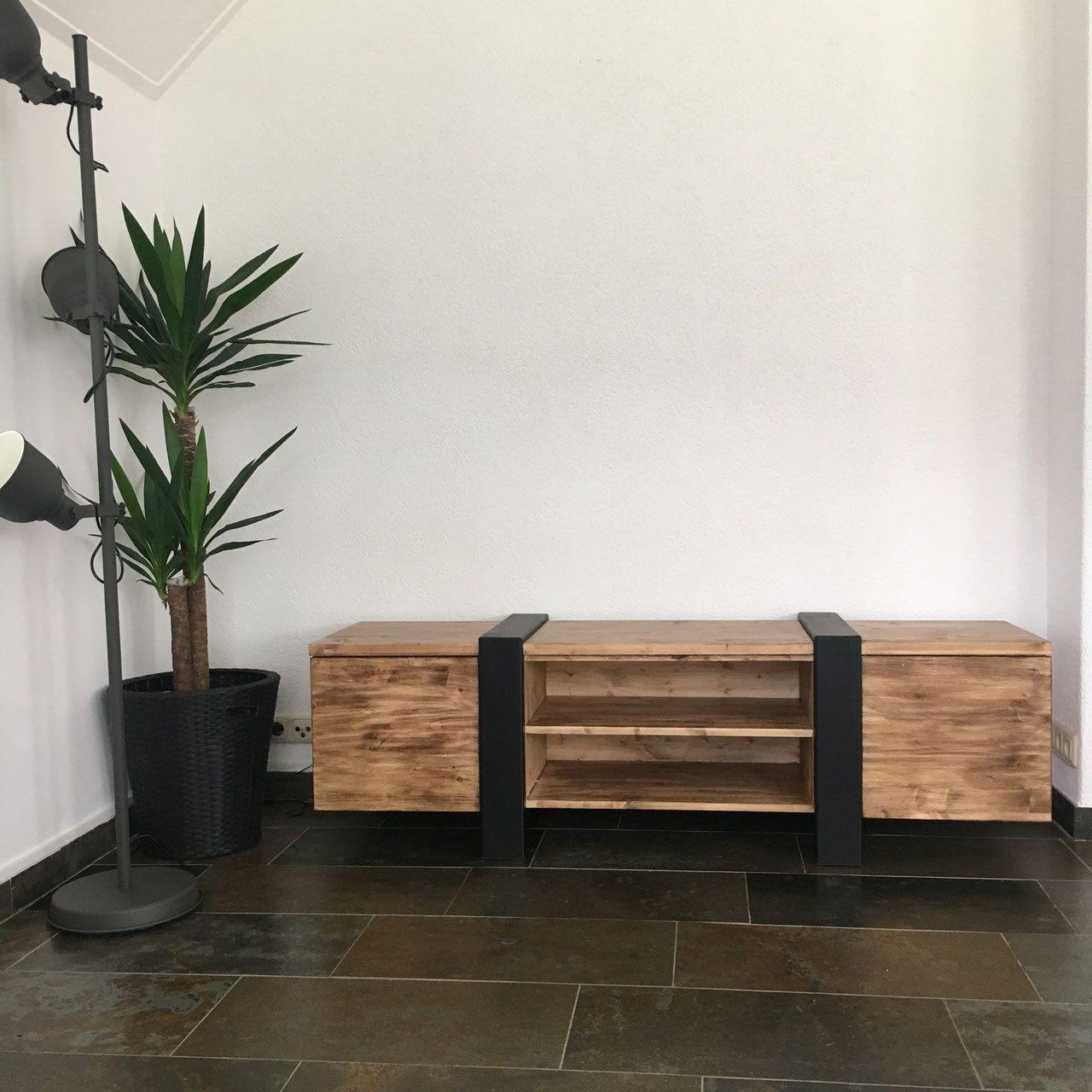 Tv Meubel Zwart Staal.Tv Meubel Speciaal Van Staal En Old Wood In 2019 Homestead