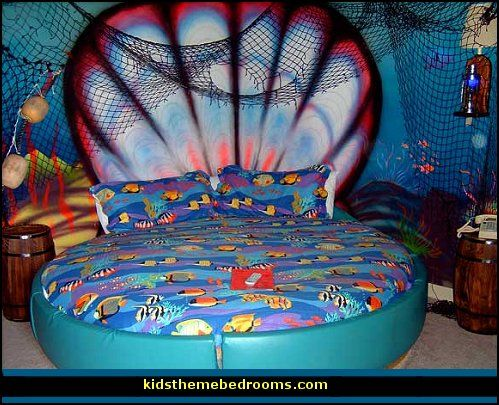 Underwater themed bedroom decorating ideas gross things for Ariel bedroom ideas