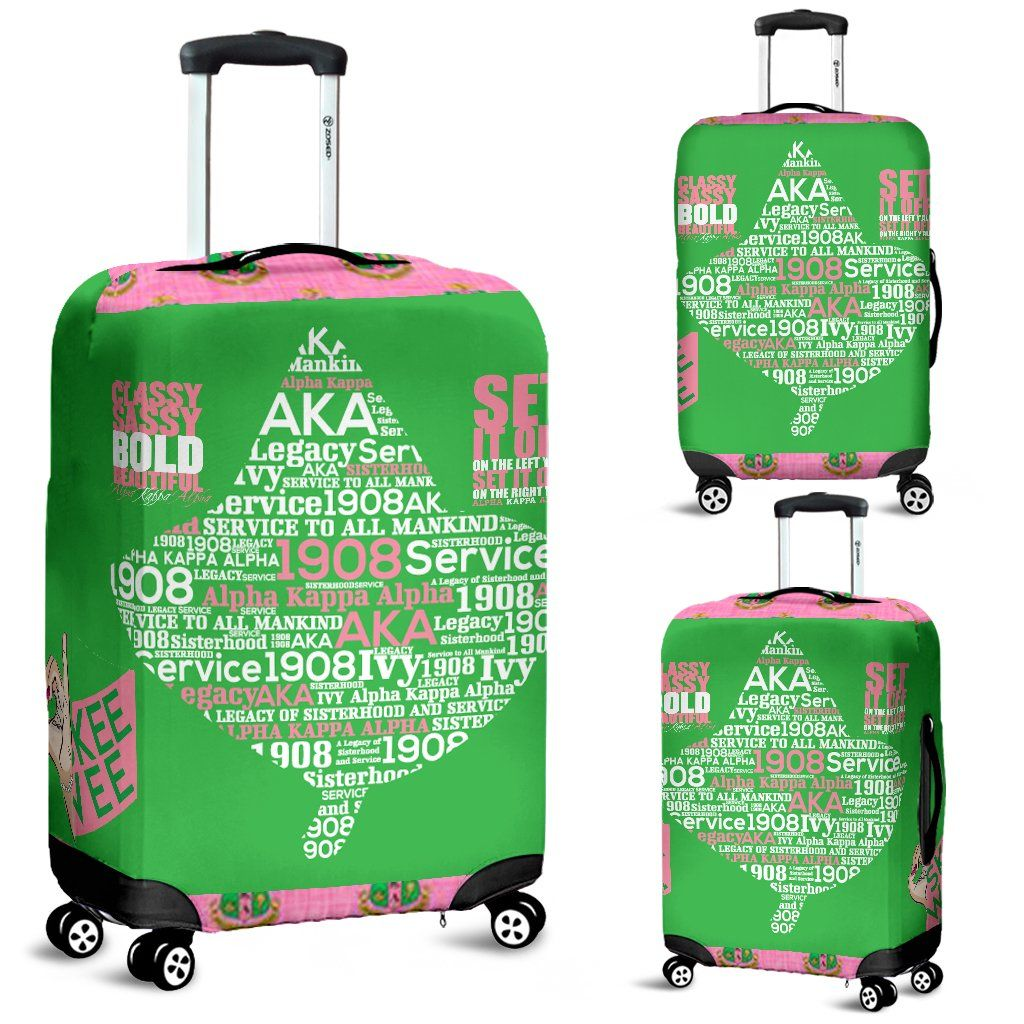 9a05cb850aa Alpha Kappa Alpha Luggage Cover 1.0 | AKA Luggage | Alpha kappa ...