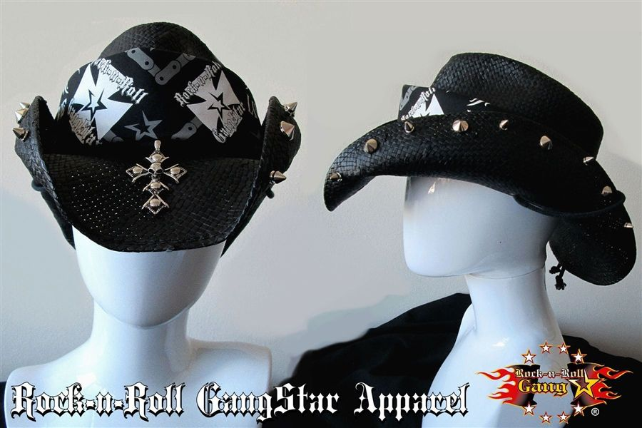1176e79c1 Custom Shapeable Cowboy Hat black version 1 Rock and Roll Heavy ...
