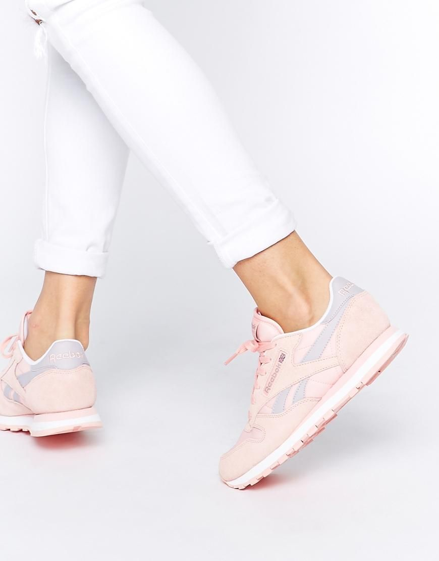 d65a0049879e Pink   Reebok Classic Leather Patina Pink Retro Trainers at ASOS ...