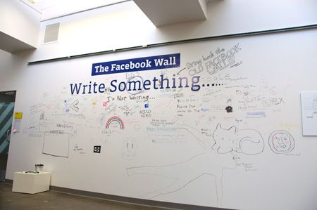 creative office walls. Facebook-office-wall-drawing Creative Office Walls O