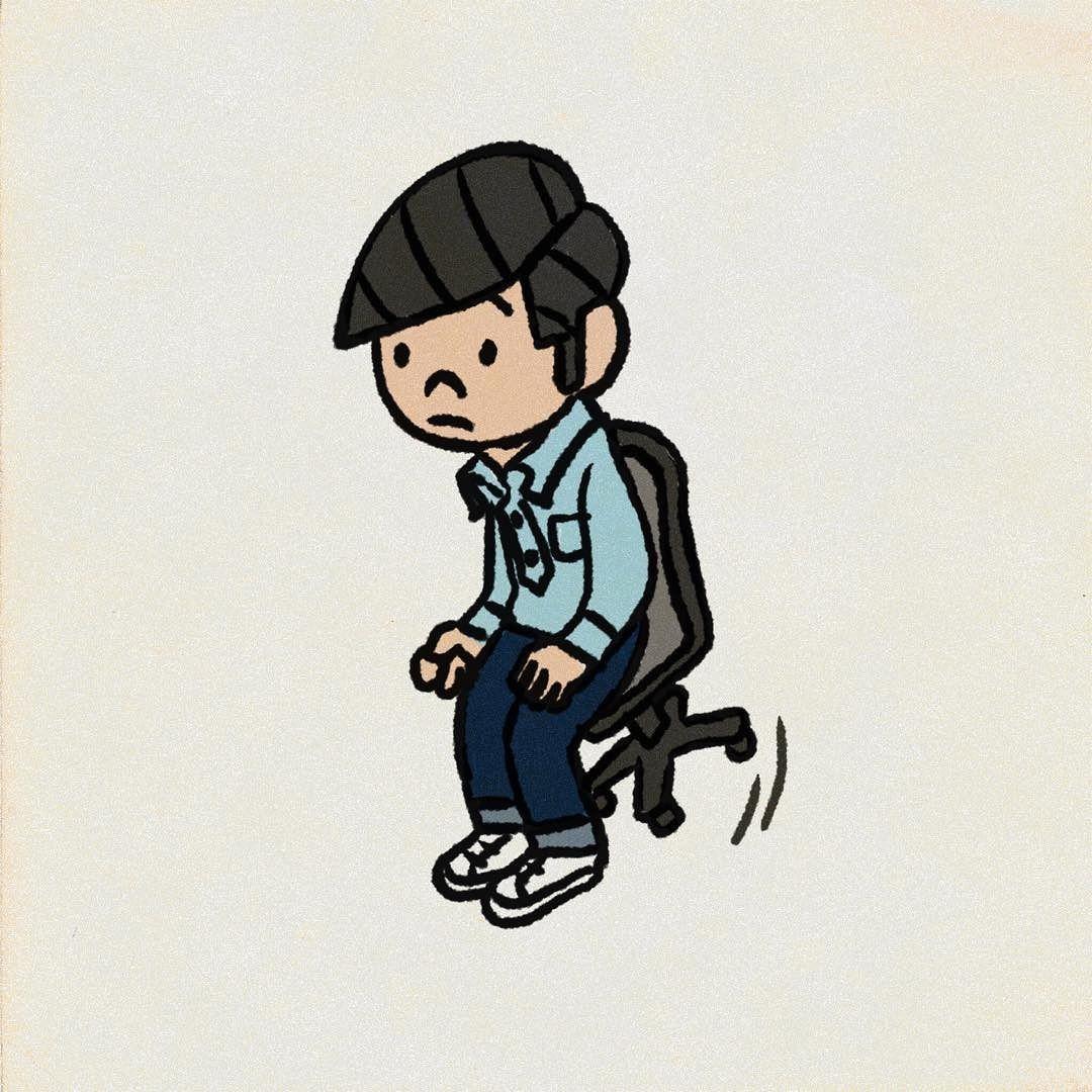 座りすぎ 椅子 イラスト instagram posts illustration vault boy