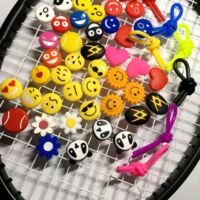 100pcs Various Types Tennis Racket Shock Absorber To Reduce Tennis Racquet Vibration Dampener Raqueta Tennis Racquet Racquet Sports Racquet Vibration Dampeners