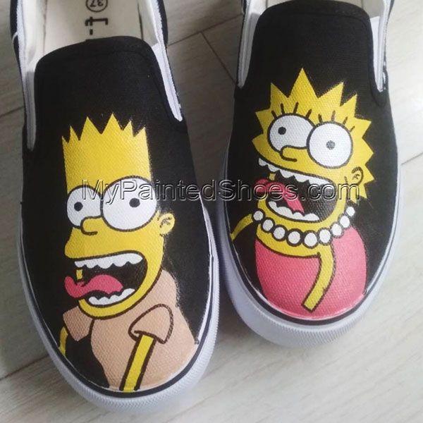 9ddb2de2bfa0 simpsons slip-on shoe the simpsons shoes for sale