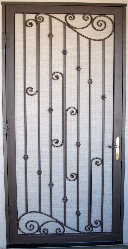 Custom security doors phoenix soldadura dobladores for Modelos de puertas principales de fierro