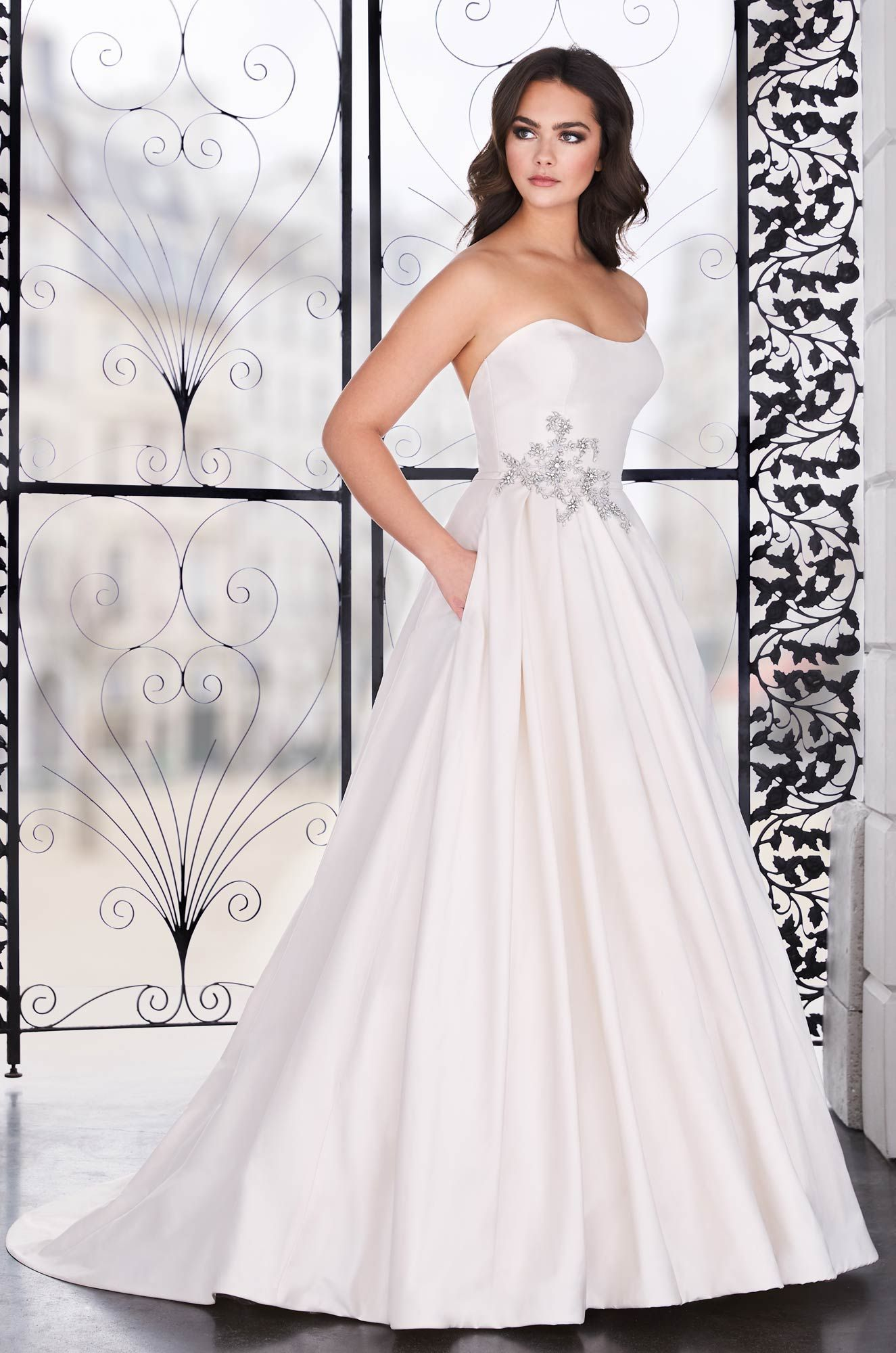 Asymmetrical Silk Wedding Dress Style 4856 In 2020 Wedding