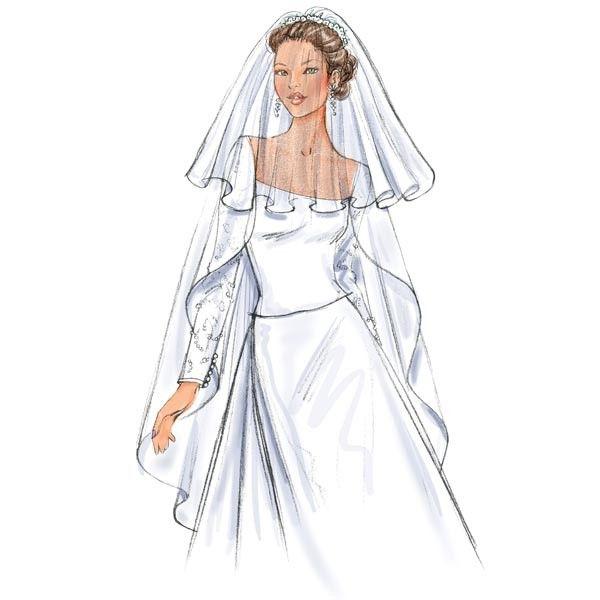 Butterick B4487 Sewing Pattern - Bridal Veils - CraftStash ...