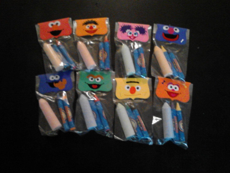 SESAME STREET BIRTHDAY party favor crayonchalk by BeyondBalloons