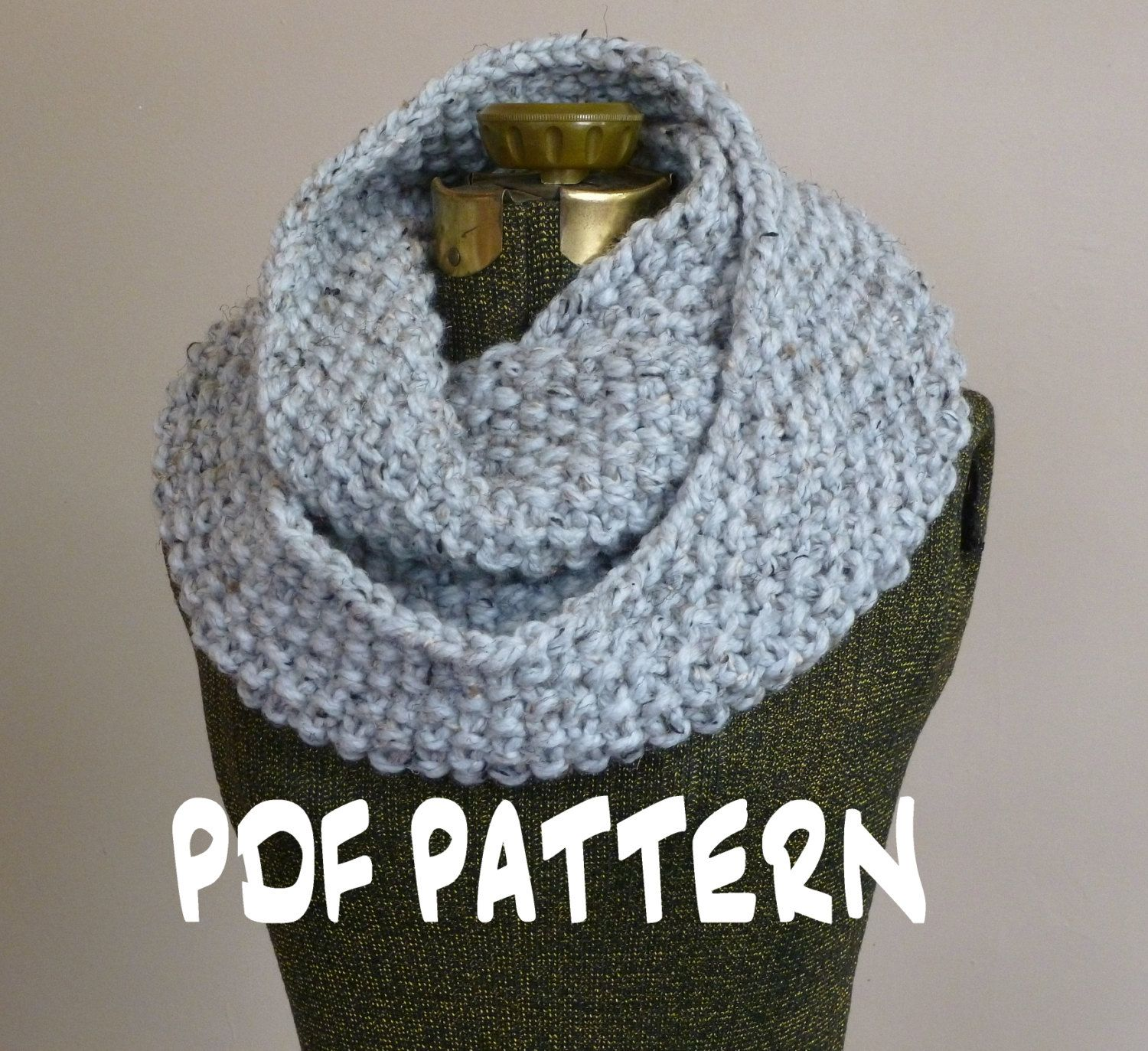 Knitting PATTERN, Knit Cowl Pattern, Knit Infinity Scarf Pattern ...