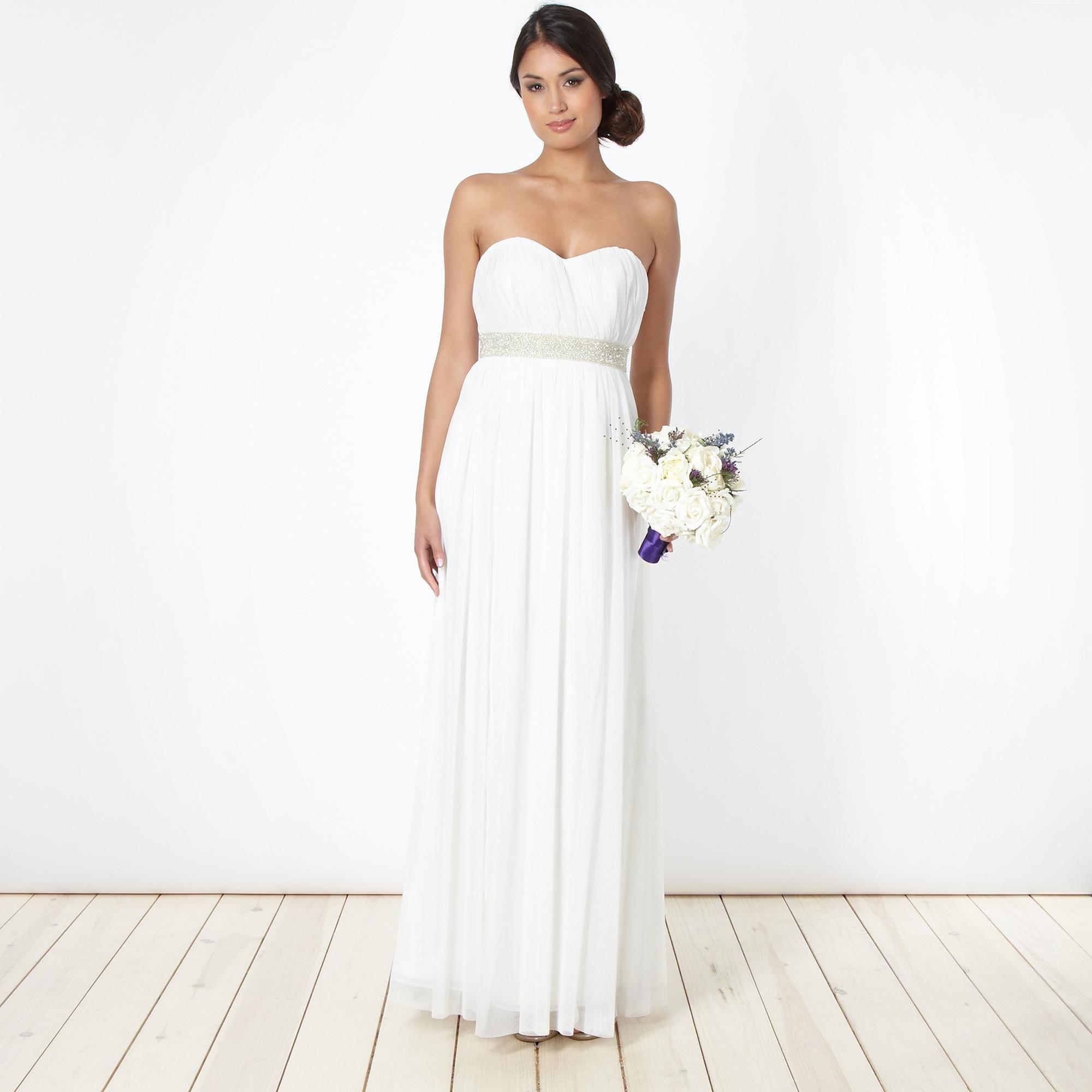 Ivory embellished maxi dress - Debenhams.com #Dress #Dresses #White ...