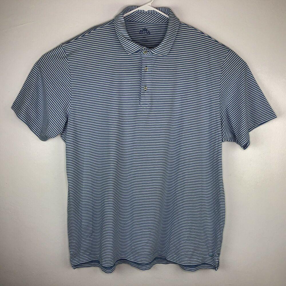 50aad029746a0 Peter Millar Mens Size XXL Seaside Wash Golf Polo Shirt Stripped ...