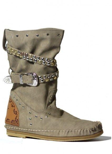 66e6d859 Bota Indianini Ibiza - Taupe | moda | Shoes, Boots y Combat Boots