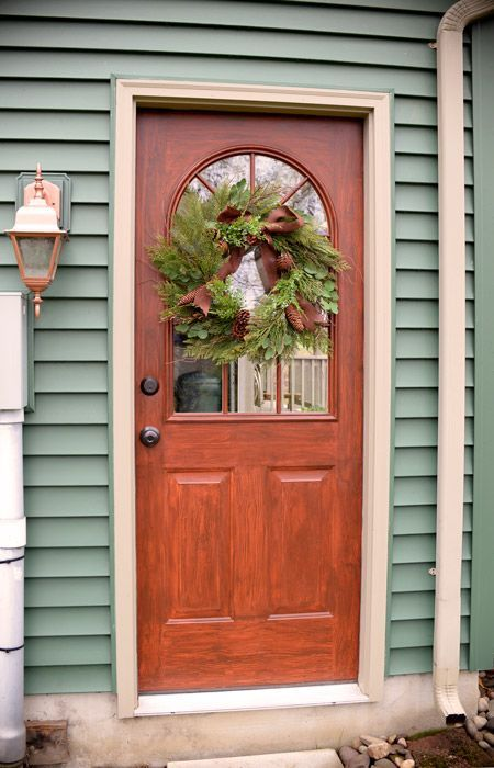 Paint A Metal Door To Look Like It 39 S Wood Living Rich On Less Diy Home Decor Pinterest