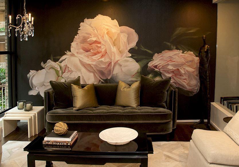 TD-3 Peonies Pink Artistes, Peinture et Fleur - Peindre Un Mur Interieur