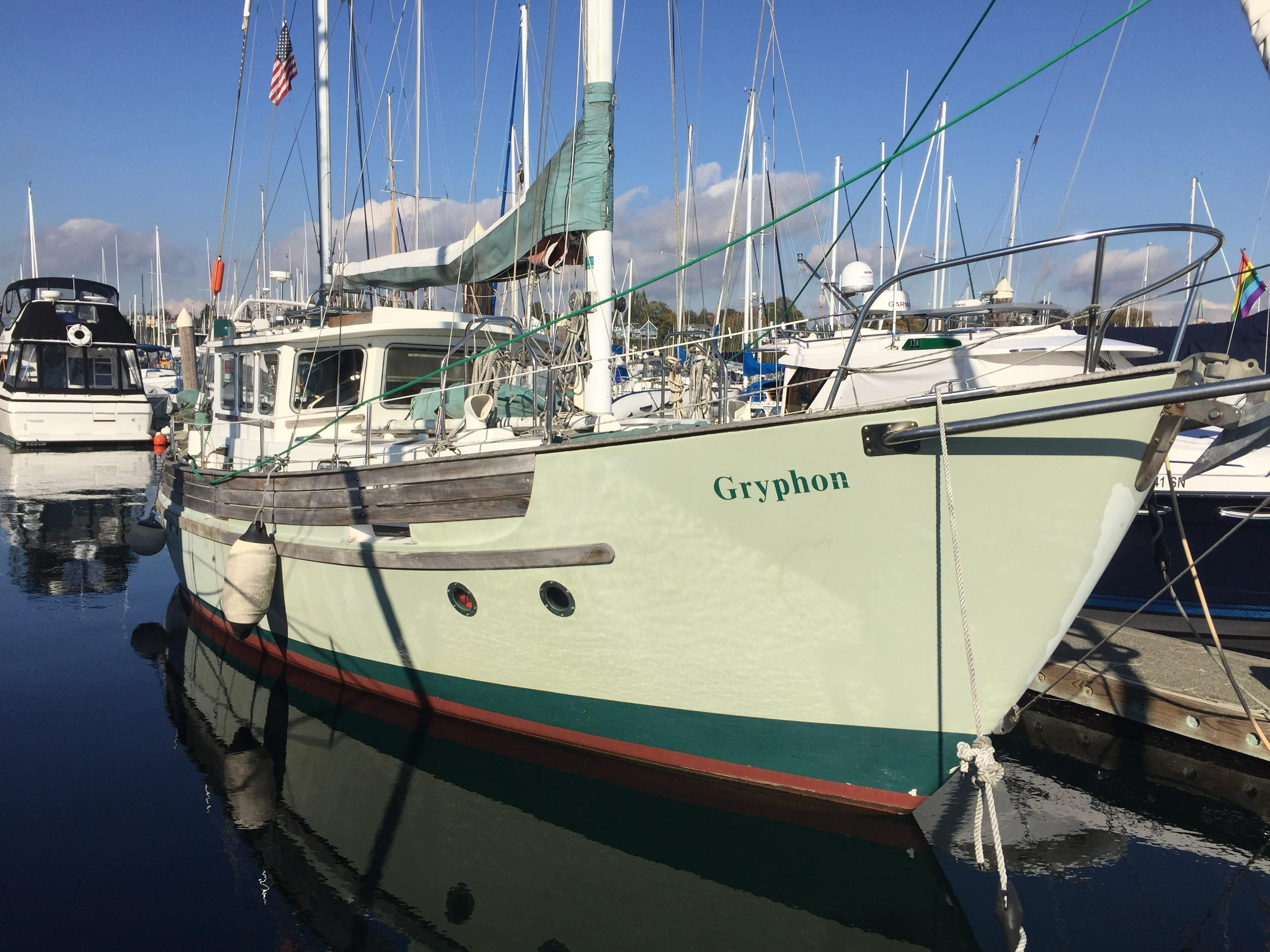 1976 Fisher Pilothouse Motorsailer Sail Boat For Sale - www