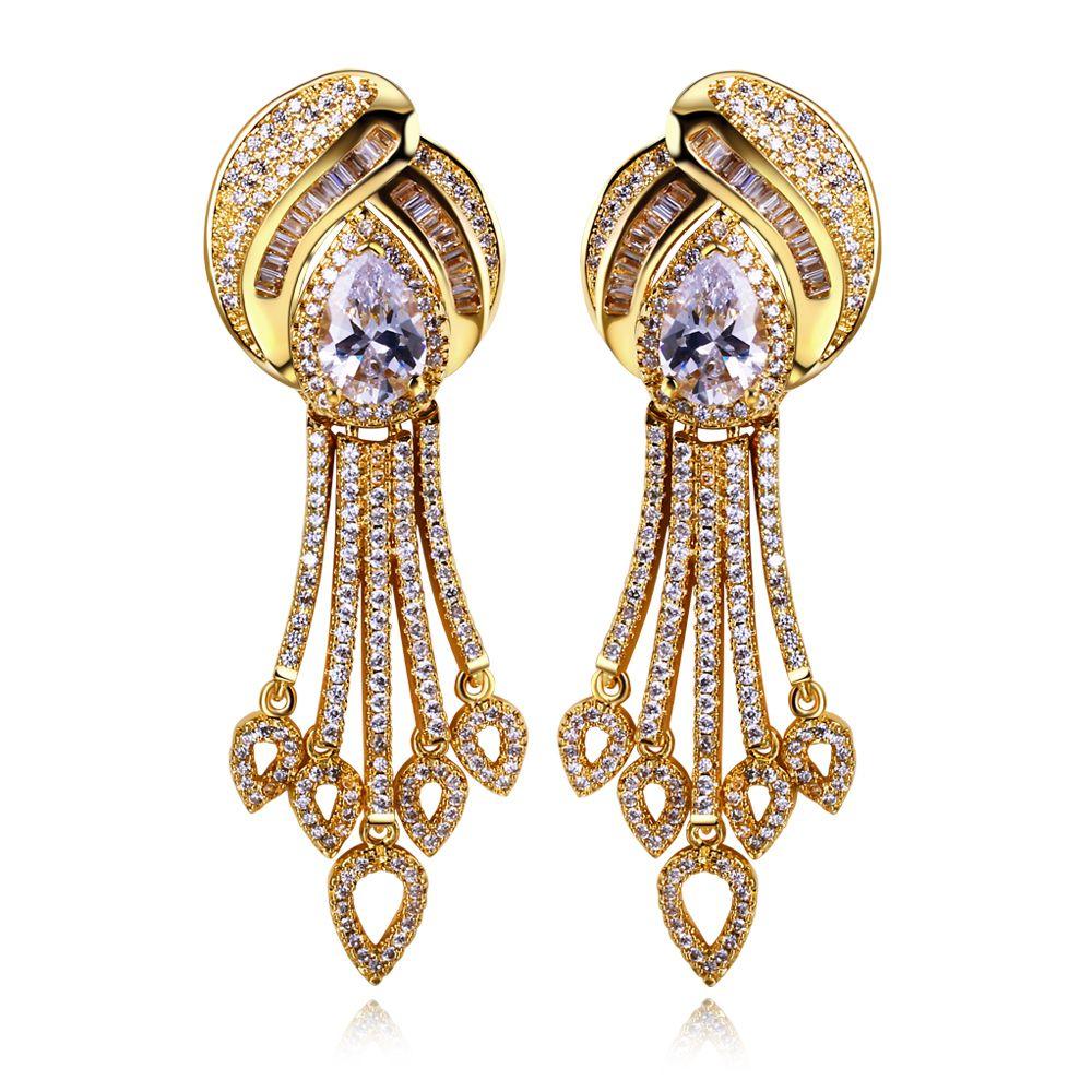 Earrings for women tassel Drop Earring copper material gold plated ...
