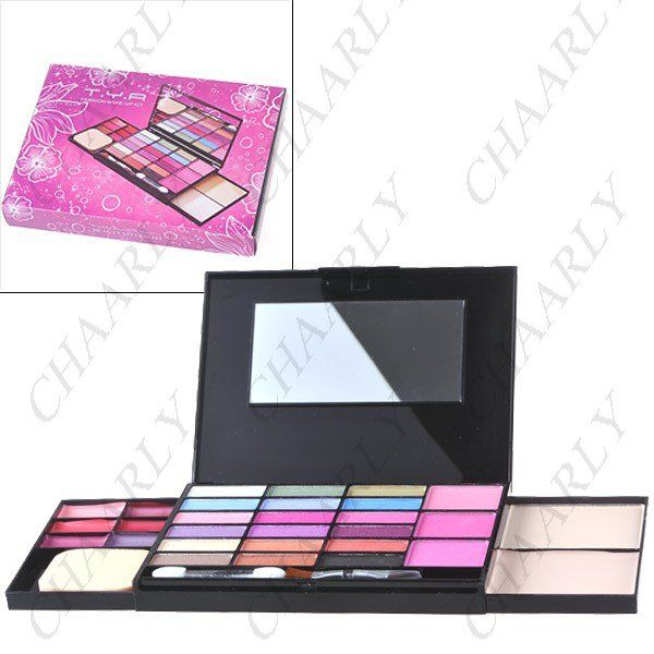 Fashionable Make-up Compact Kit Powder Box with Eye Shadow + Blusher + Lip Gloss + Powder