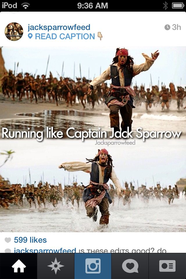 jack sparrow running jack