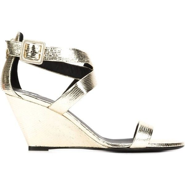 Giuseppe Zanotti Design strappy wedge sandals (860 ILS) ❤ liked on Polyvore featuring shoes, sandals, grey, strap sandals, ankle strap sandals, grey wedge sandals, leather strap sandals and grey sandals