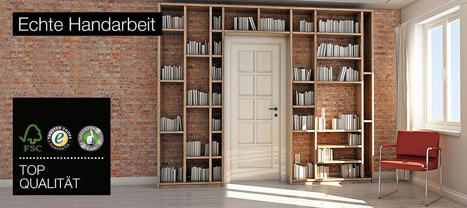 Regal um die Tur\/Durchgang EInbauten Pinterest - hausbibliothek regalwand im wohnzimmer