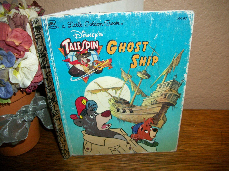 Disney's Talespin Ghost Ship Children's Story Book Pirate Sunken Boat  Island Adventure Vintage Little Golden Book by TKSPRINGTHINGS on Etsy