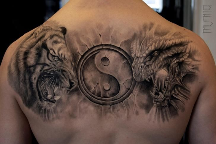 0de56867c Tiger Dragon Ying Yang tattoo by Mumia Tattoo | Best Tattoo Ideas ...