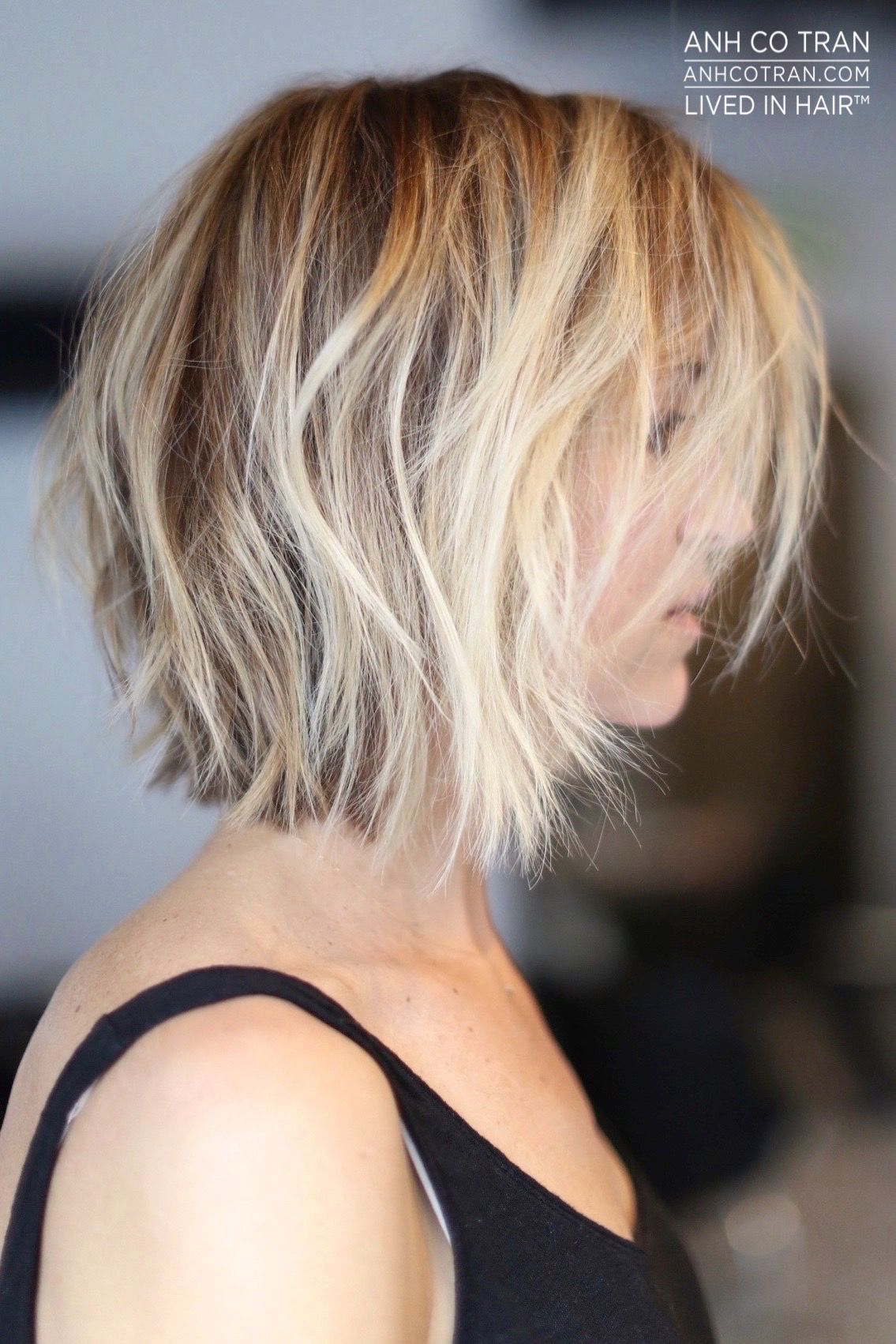 Anh co tran hair pinterest face framing layers bobs and face