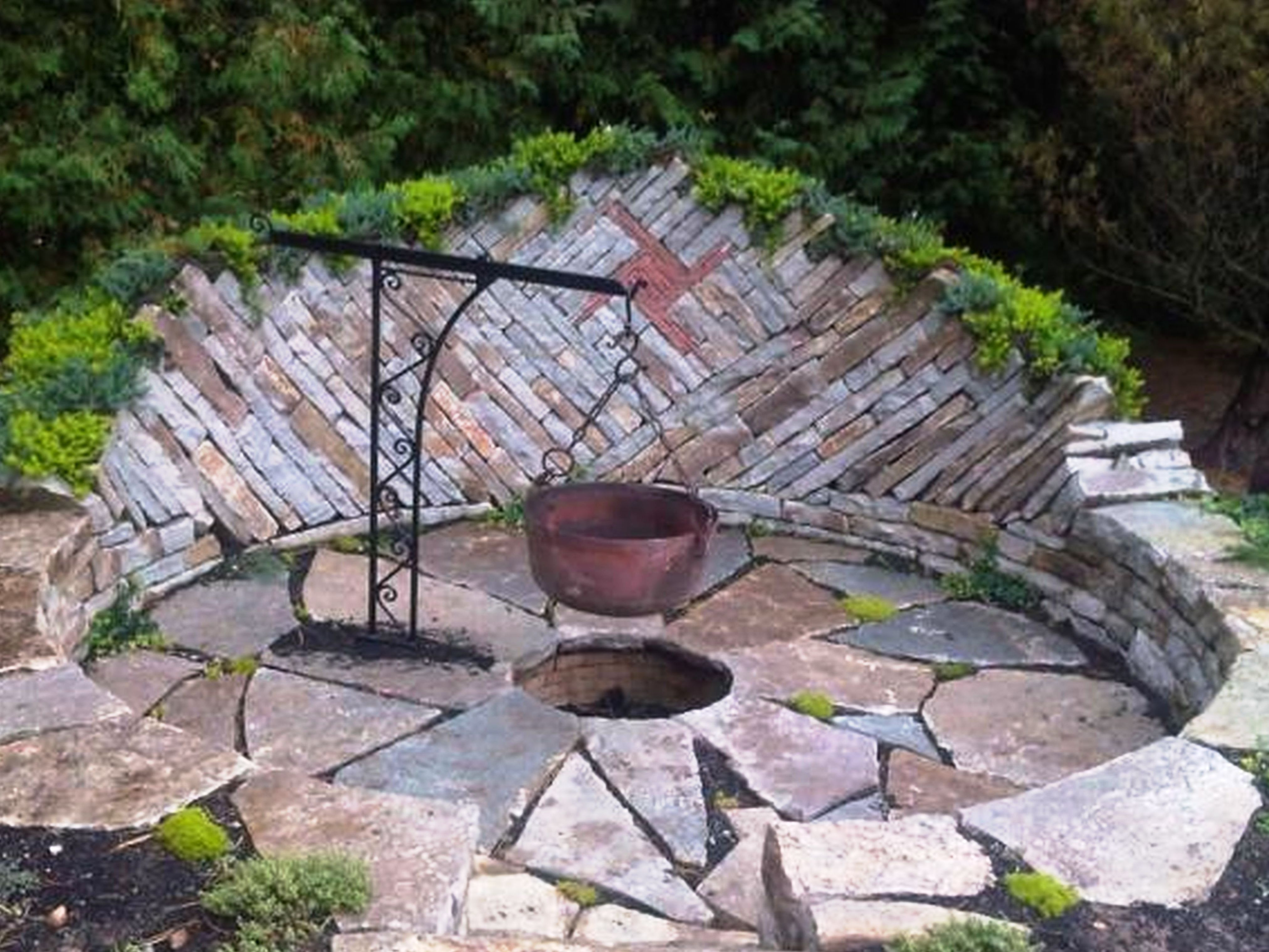 sunken firepit for cooking fire pit backyard fire pit on best large backyard ideas with attractive fire pit on a budget id=37950