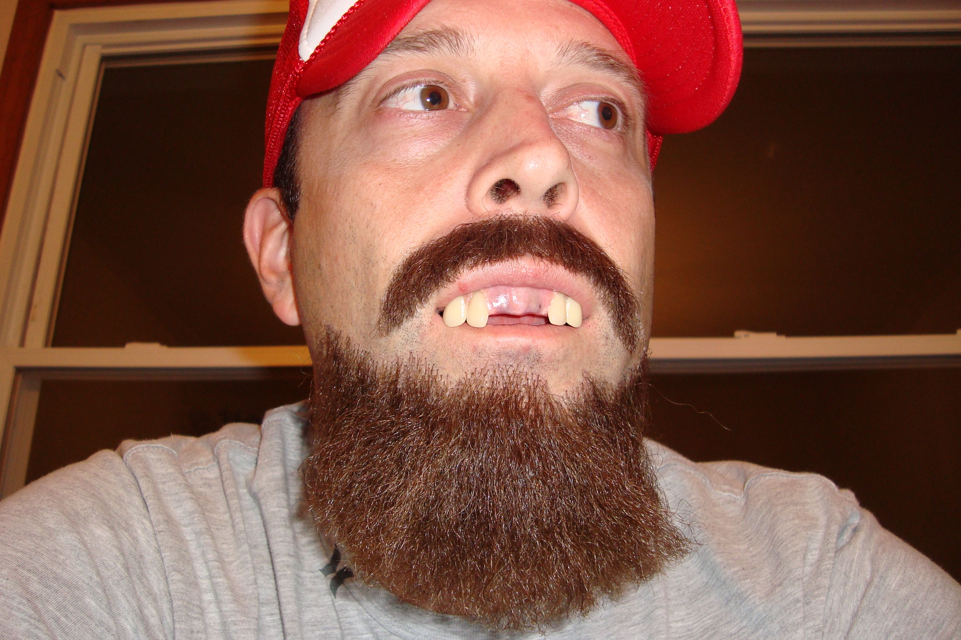 A Little Fun With Facial Hair And Some Fake Teeth I Made With