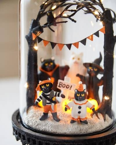 Trick or Treat LED Cloches Set of 2 by Balsam Hill Cloche ideas in