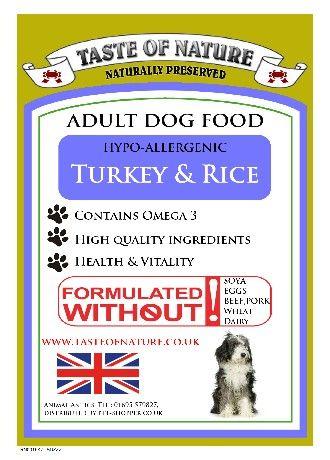 Taste Of Nature Turkey And Rice Dog Food 15kg 36 99