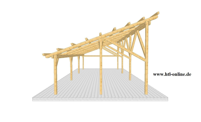Carport Aus Holz Htl Holztechnik Holz Arbeit Mit Holz Carport Aus Holz Carport Holz Carports Terrassenuberdachung