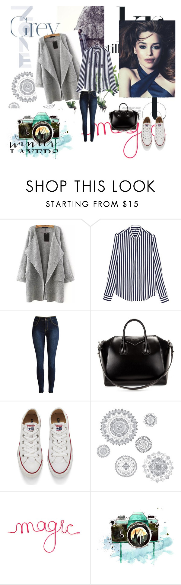"""""""Winter peaceful outfit"""" by kensi-lispal on Polyvore featuring Tommy Hilfiger, Givenchy, Converse, WallPops, women's clothing, women's fashion, women, female, woman and misses"""